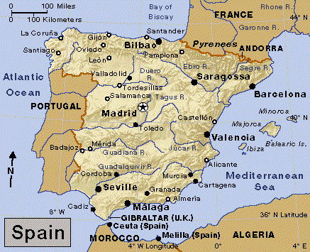 España Spain - Where is spain located